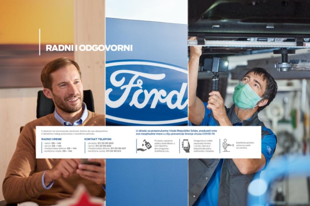 Fordovi servisi u Beogradu, Novom Sadu i Subotici besplatno preuzimaju i vraćaju vozila sa servisiranja