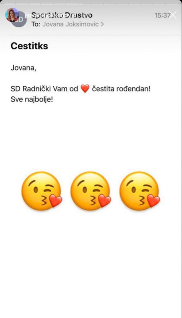 VODITELJKA NIJE KRILA EMOCIJE! Jovana Joksimović dobila čestitku od najveće ljubavi iz prošlosti! (FOTO)
