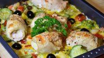 RECEPT DANA: Piletina sa mlincima i grilovanim povrćem