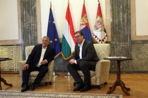 Predsednik Vučić sastao se sa predsednikom Vlade Mađarske