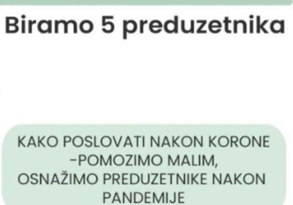 """""""Kako poslovati nakon korone – Pomozimo malim, osnažimo preduzetnike nakon pandemije"""" humana akcija Privredne komore Srbije i mlade preduzetnice"""