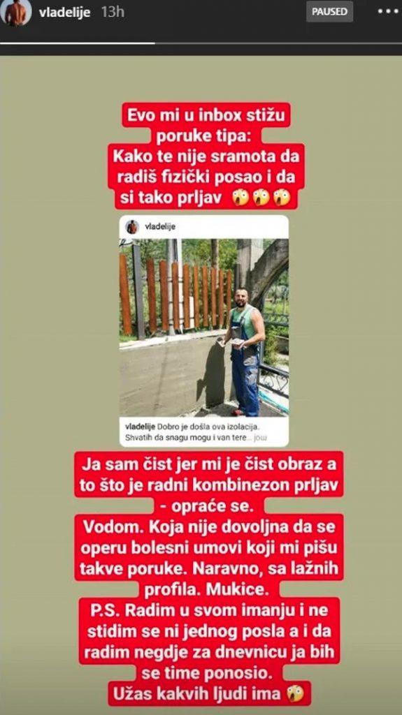 Vladimir Tomović POBESNEO zbog poruka fanova pa im odbrusio!