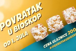 """Velika akcija """"Povratak u bioskop"""" počinje 1. jula"""