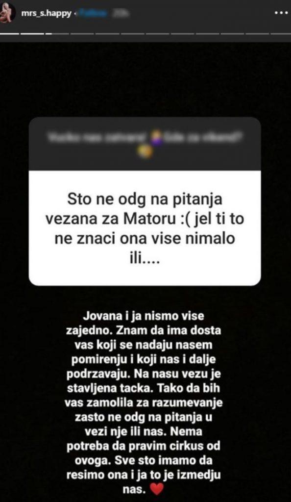 Sanja Stanković posle svega ne ŽELI ni da SPOMINJE Matoru!