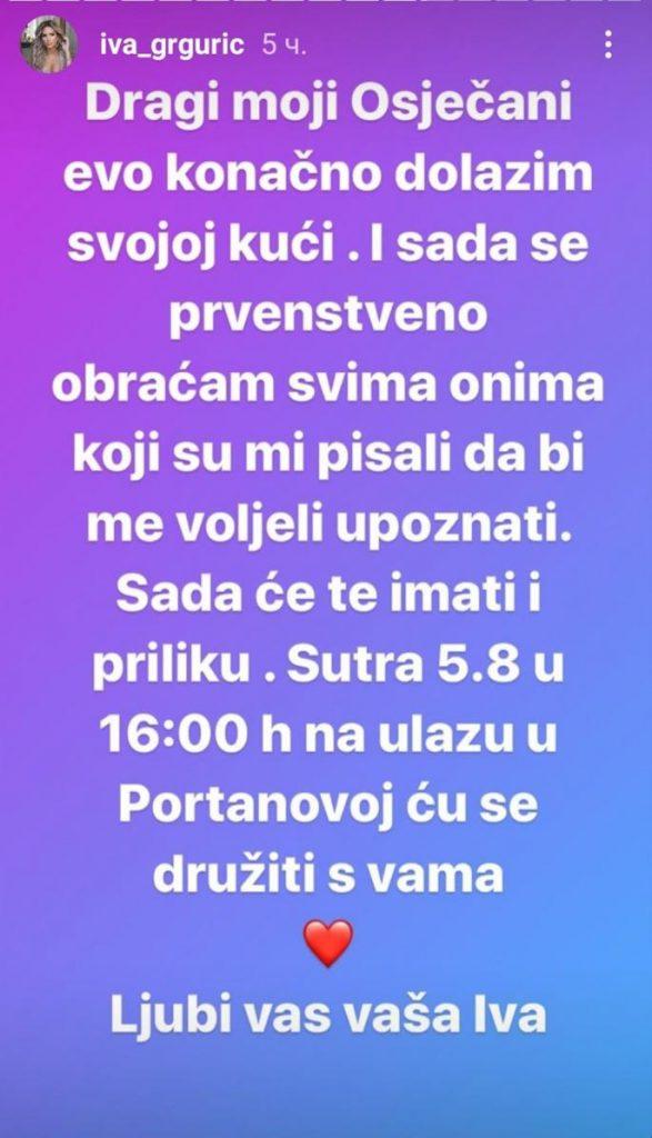 Grgurićeva je imala veliku podršku ljudi iz Hrvatske, koji su bili jako ponosni kada je ona odnela pobedu, a da li će joj prirediti neki poseban doček, saznaćemo već sutra.