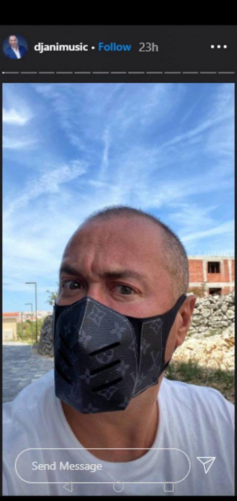 """CENA """"PRAVA SITNICA"""", BAŠ NIJE ŠTEDEO Đani se od virusa štiti skupocenom maskom"""