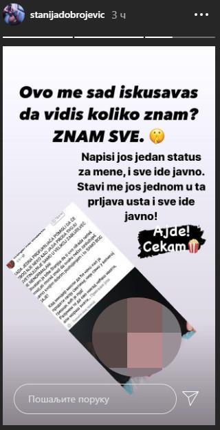 """""""STAVI ME JOŠ JEDNOM U TA PRLJAVA USTA...!"""" Stanija Dobrojević JAVNO ZAPRETILA Kristijanu"""