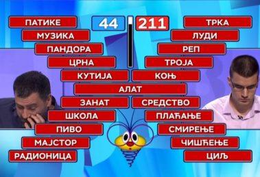 """Miloš je sinoć pobedio u """"Slagalici"""" na spektakularan načn: DOMINACIJA ZA 12 SEKUNDI"""