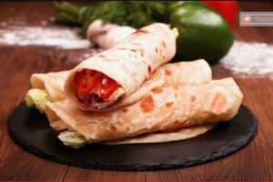 RECEPT DANA:Domaće tortilje sa pohovanim mesom i povrćem(VIDEO)