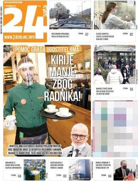 naslovne strane novina za petak 04. decembar