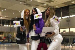 URAGANKE OTPUTOVALE U ROTERDAM: Pevačice napravile pometnju na aerodromu, sve je spremno za Evroviziju!