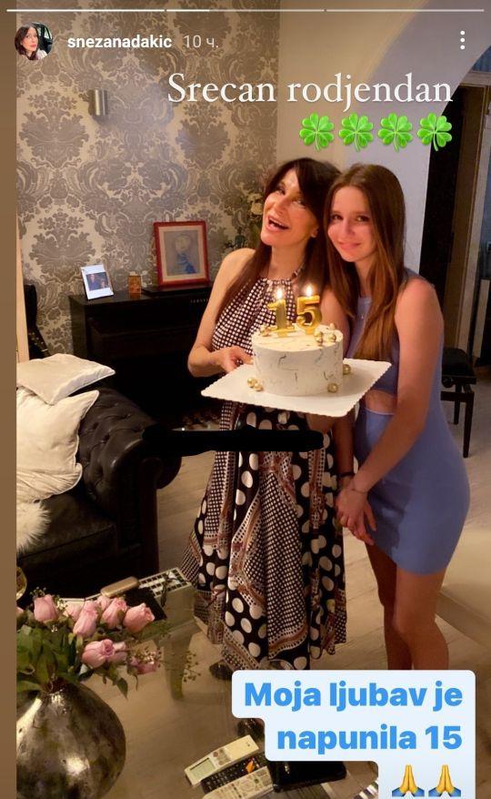 Snežana Dakić kućnom žurkom proslavila rođendan ćerke Laure