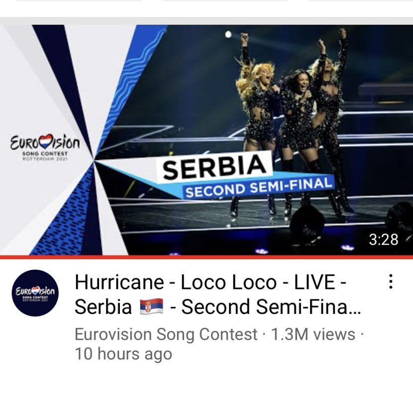 Angella SPA i Wellness EUROVISION blog: Dominacija Uraganki se nastavlja! Za 10 sati prešle su milion na Jutjubu, favoriti daleko iza njih