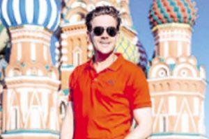 CRVENI MILOŠ NA CRVENOM TRGU: Popularni glumac uživa u glavnom gradu Rusije