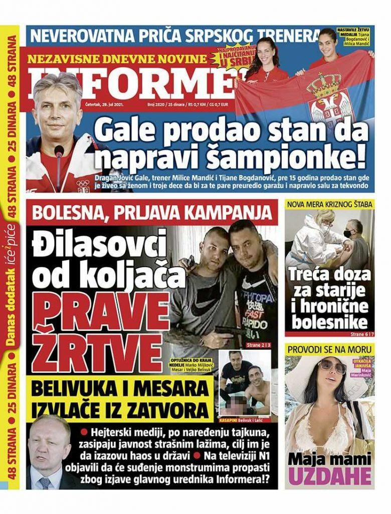 naslovne strane 29.jul