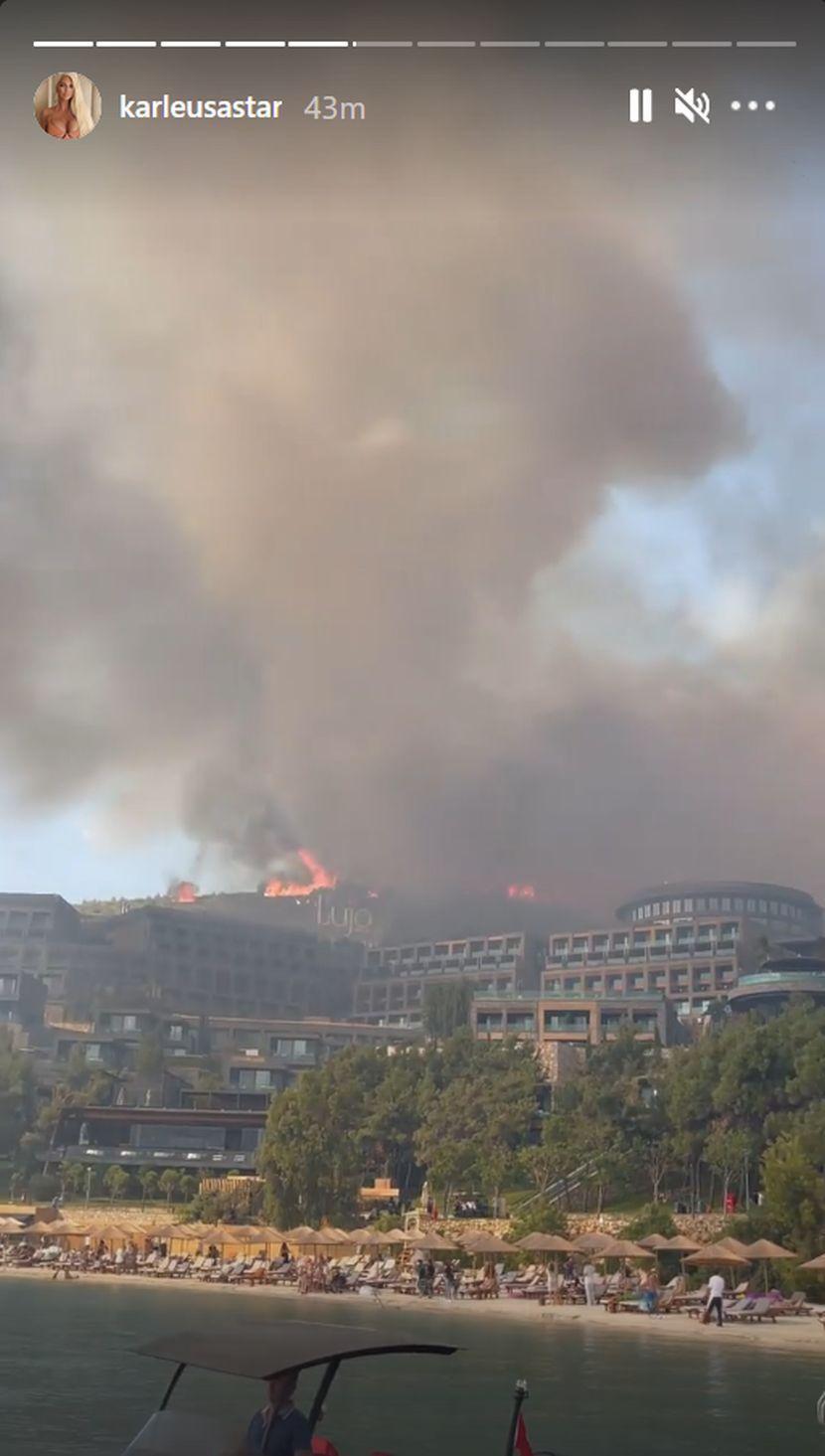 Karleuša sa ćerkama hitno evakuisana zbog požara! Sve gori, dim i pepeo svuda